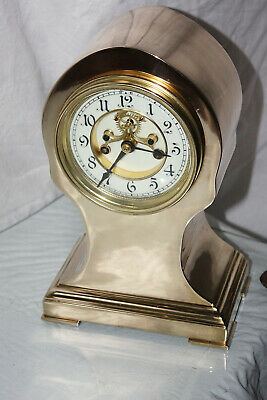 1898 Antique Waterbury Strikes Clock Totally Restored Open Escapement Mechanism
