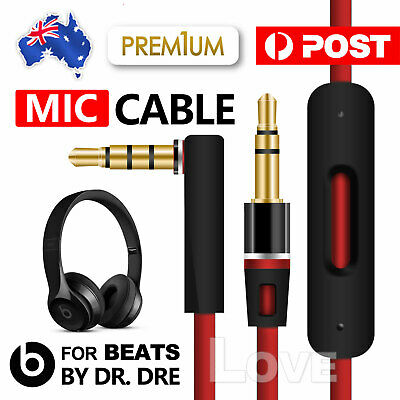 For Beats By Dr Dre Replacement 3.5mm Aux Cord Jack Audio Headphones Mic Cable
