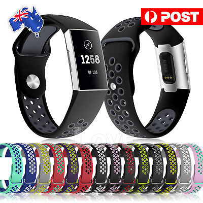 Soft Silicone For Fitbit Charge 3 Bands Adjustable Replacement Sport Strap Band