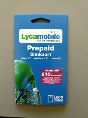 (Lot of 5) Lycamobile NL Prepaid Karte - 3 in 1 Sim - Anonym & Aktif
