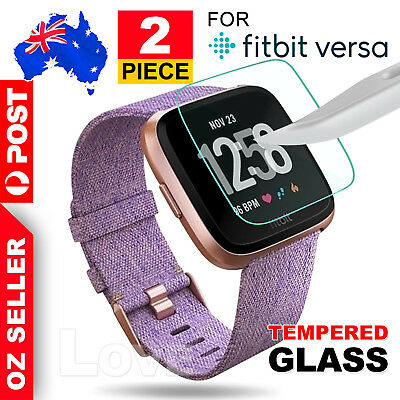 2x Fitbit Versa Screen Protector 9H Tempered Full Coverage Glass Guard