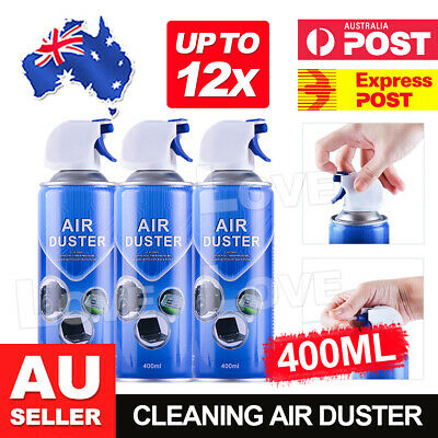 Air Duster Compressed Cleaner Can Spray 400ml Laptop PC Keyboard Camera Lens