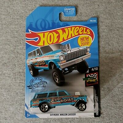 64 Nova Wagon Gasser #198 Jerry Rigged 2019 Hot Wheels Case K