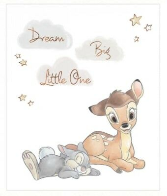 Disney Bambi Quilt Panel * Dream Big Little One * New * Free Post *