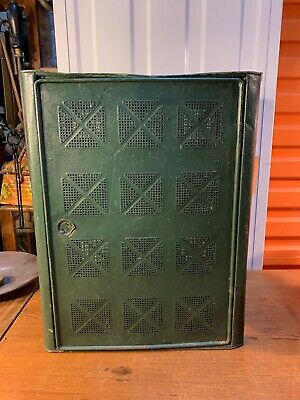 Antique Vintage Australian 1920's Perforated Metal Kitchen Meat Food Safe