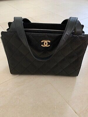 0befb9a6d5ed CHANEL LARGE SHOPPING bag 30 cm soft leather Dark Blue Antiqued ...