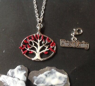 GAME of THRONES....Weirwood Tree Pendant on 925 Silver Chain and Charm