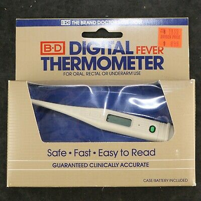 Vtg 1985 B-D Digital Fever Thermometer
