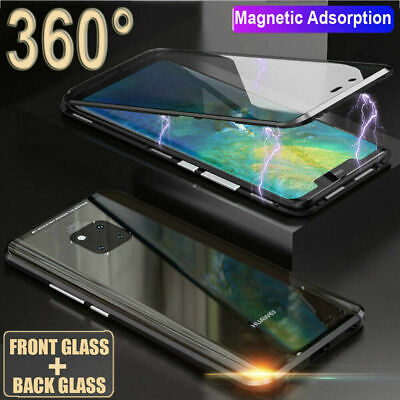 For Huawei P30 Pro/Mate 20 Pro Magnetic Case 360° Double Sides Glass Cover Shell