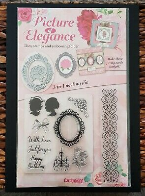 PICTURE OF ELEGANCE Dies, stamps and embossing folder