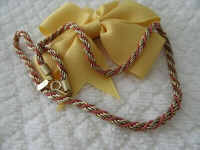 Stunning Vintage  Twisted Style Gold Plated Chain/ Necklace