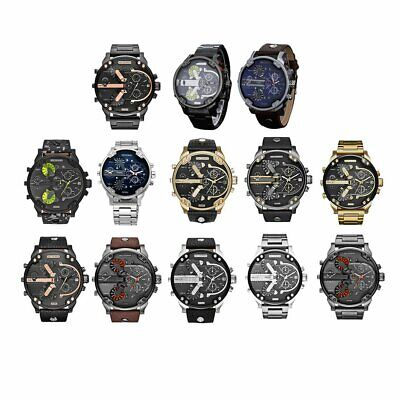 Fashion Men Stainless Steel Analog Quartz Wrist Watch Bracelet Mens Watches