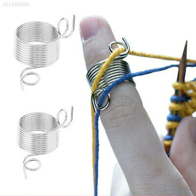 E3C2 Sweater Knitting Tool Finger Thimble Yarn Needle Guide Sewing Accessories D