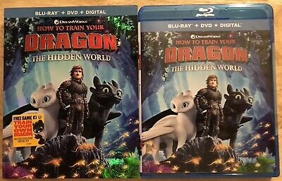 How To Train Your Dragon 3 The Hidden World 2 Disc Blu Ray + Dvd With Slipcover