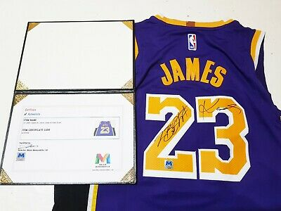 2a141a4a644 NO.23 LEBRON JAMES & Kobe Bryant Autographed LA Lakers Jersey with ...