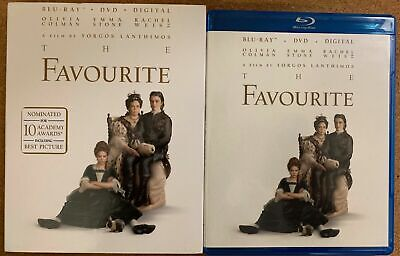 The Favourite Blu Ray Dvd 2 Disc Set + Slipcover Sleeve Free World Wide Shipping