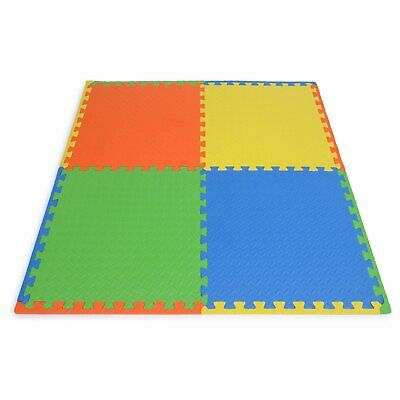 Soft Interlocking Floor Mats EVA Foam-Rubber Non Slip Tiles 60cm x 60cm x 10mm
