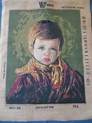 Craft Tapestry Canvas Lev Dokor Retouche Main 154 Boy   60 X 45