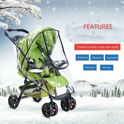 Stroller Rain Cover Baby Buggy Pushchair Universal Raincover Windproof Dust Snow