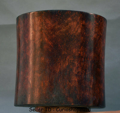 """10.4""""Old Chinese Huanghuali Wood Dynasty Calligraphy Tools Brush Pot Pencil Vase"""