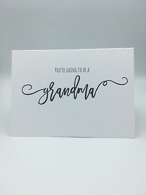 You're Going To Be A Grandma Scan Photo Baby Announcement Pregnancy Card