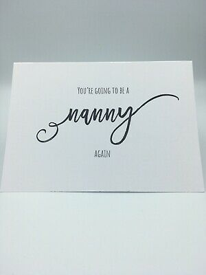 You're Going To Be A Nanny Again Scan Photo Baby Announcement Pregnancy Card