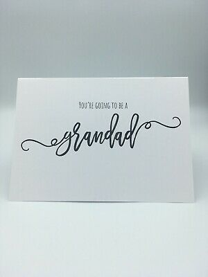You're Going To Be A Grandad Scan Photo Baby Announcement Pregnancy Card