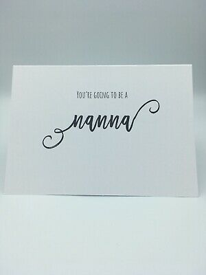 You're Going To Be A Nanna Scan Photo Baby Announcement Pregnancy Card