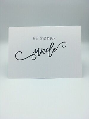 You're Going To Be An Uncle Scan Photo Baby Announcement Pregnancy Card