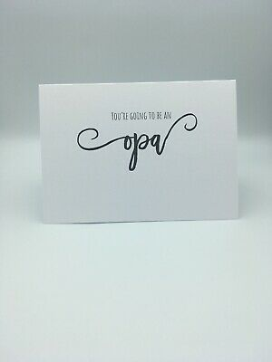 You're Going To Be An Opa Scan Photo Baby Announcement Pregnancy Card