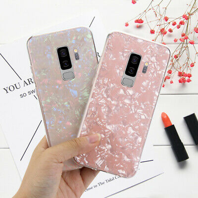 For Samsung S10/S10+/S9/S8/S7 Glitter Marble Protective Case Shockproof Cover