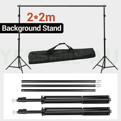 Studio Heavy Duty 2x2m Backdrop Stand Photography Video Photo Background Support