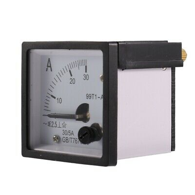 6X(Square plate 99T1 movable wings 0-30A Analog ammeter AC 48 mm x 48 mm F5U7)