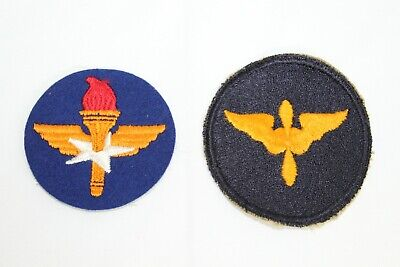 (2) Vintage WW2 US Army Air Corps Patches Training Command & Cadet Air Force