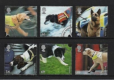 GB Stamps 2008 'Working Dogs' sg2806-2811 - Fine used
