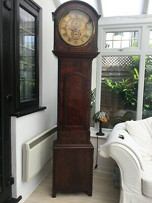 Scottish  8 day mahogany longcase clock