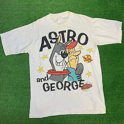 88964bbd Vintage 90s Hanna Barbera Mens L The Jetsons Astro And George Graphic Tee  Shirt