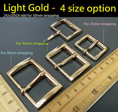 Alloy Metal Rectangle Belt Pin Buckle for 25 32 38mm strapping DIY Leather Craft