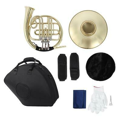 3 Key Brass Gold Lacquer French Horn Double French Horn Musical Instrument Gift
