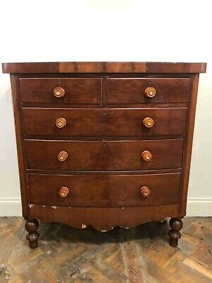 Large Antique Victorian Mahogany Chest of Drawers - Delivery Available