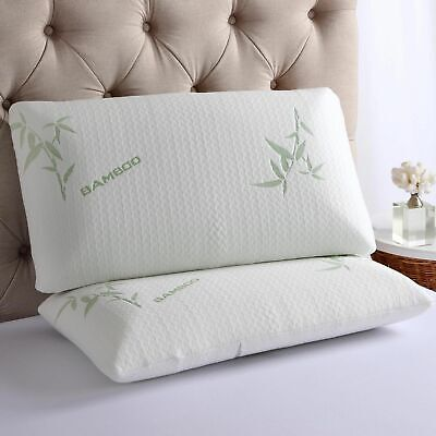 Bamboo Memory Foam Pillow, Anti-Bacterial Premium Support Pillow Luxury