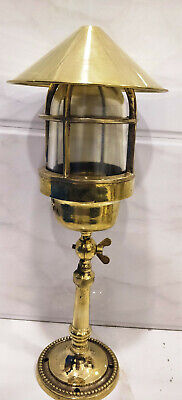 Rare vintage style new marine brass ship nautical table lamp 1 piece