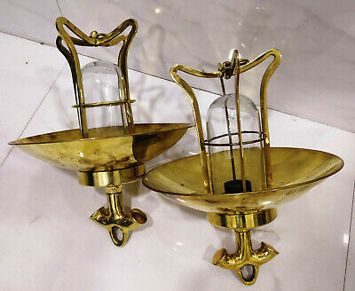 vintage style new marine brass ship nautical hanging passage wall light 2 piece