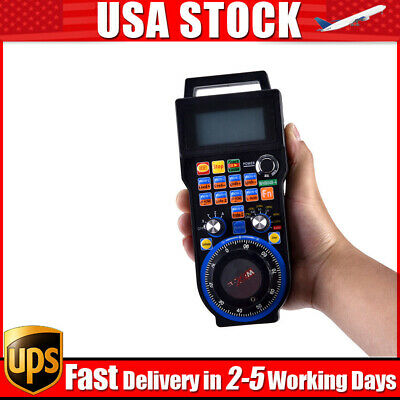 CNC MACH3 4 Axis Wireless Electronic Handheld Handwheel Controller Pendant Pulse