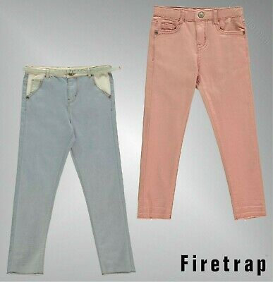 V By Very Girls Frayed Mid Wash Jeans Size 10-16 Years Cropped Skinny Jeans