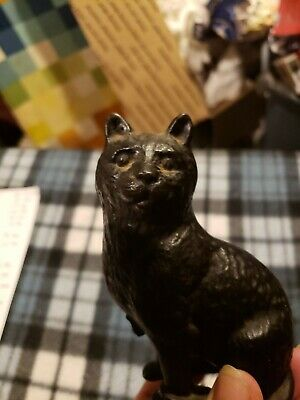 Antique cast iron cat still banks