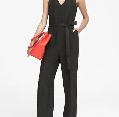 New w/ Tags Banana Republic Women's V-Neck Jumpsuit - Black - Size 6