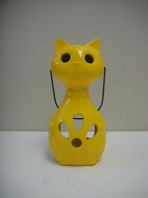 Hanging Cat Ceramic Candle Holder Made In Japan