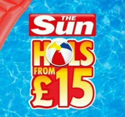 The Sun Holidays Online Booking Codes £15 ALL 5 Token Codewords Fast Delivery
