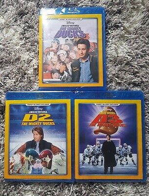 The Mighty Ducks Trilogy (Blu-ray) DISNEY!!  D2 & D3  BRAND NEW!!